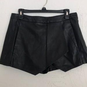 Zara leather skort